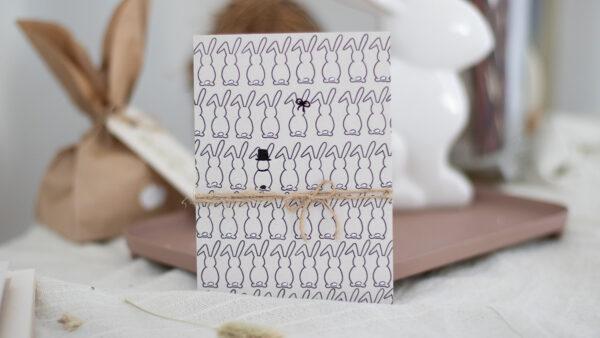 osterkarten basteln mit Stempel