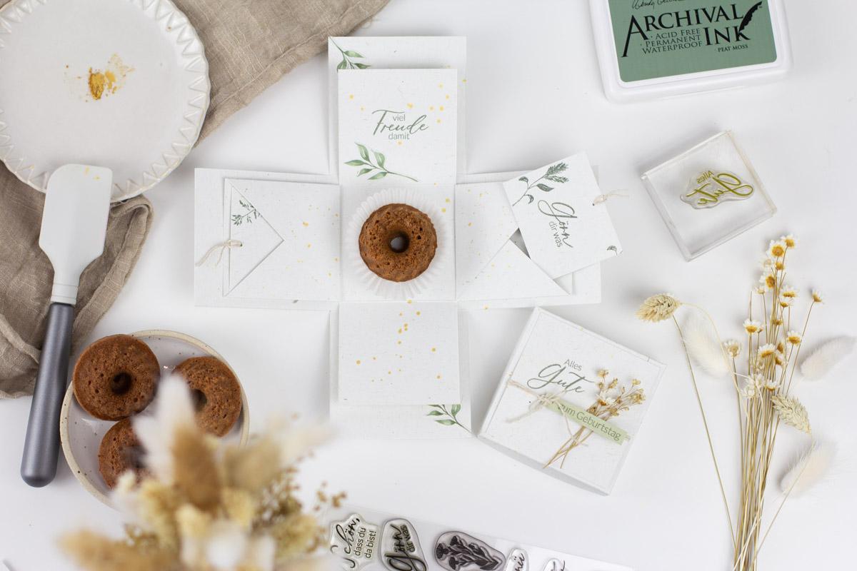 Grundanleitung Explosionsbox selber machen - DIY Bastelidee zum Geburtstag, Taufe, Hochzeit, Muttertag, Kommunion
