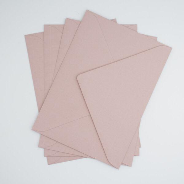 Briefumschlag Altrosa Spitze Klappe