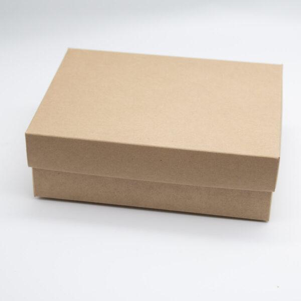 Faltschachtel mit Deckel - Kraftkarton Unsere kleine Bastelstube