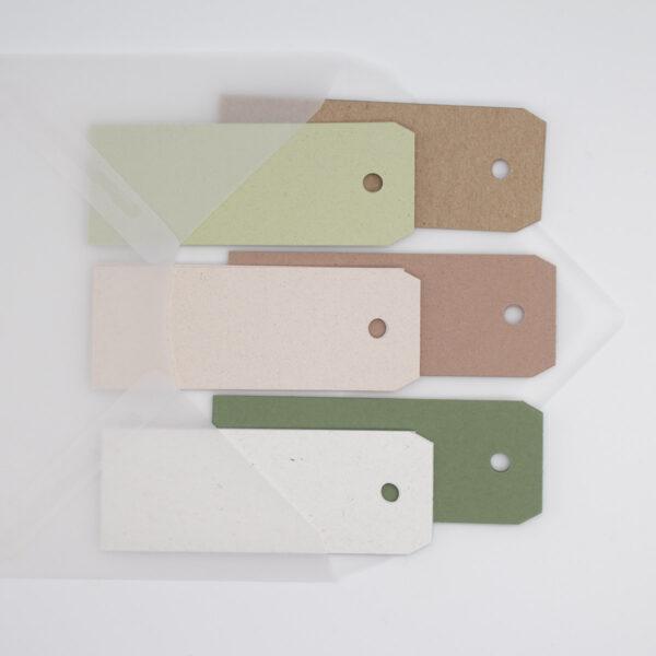 Geschenkanhänger lang - Farbmix Cozy Nature | Unsere kleine Bastelstube - DIY Bastelideen für Feste & Anlässe