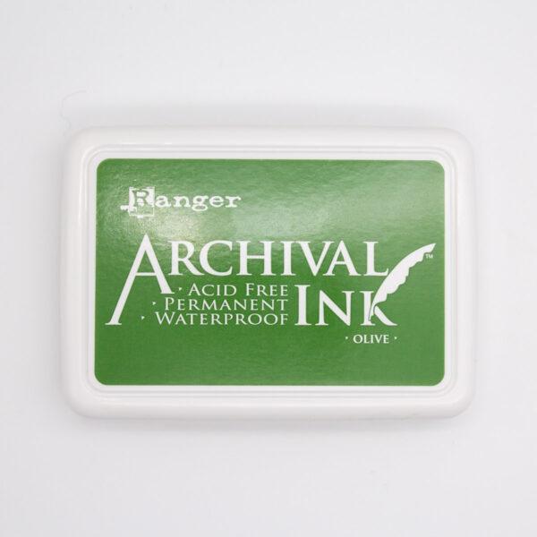 Archival Ink Olive Unsere kleine Bastelstube
