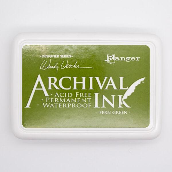 Archival Ink Fern Green Unsere kleine Bastelstube
