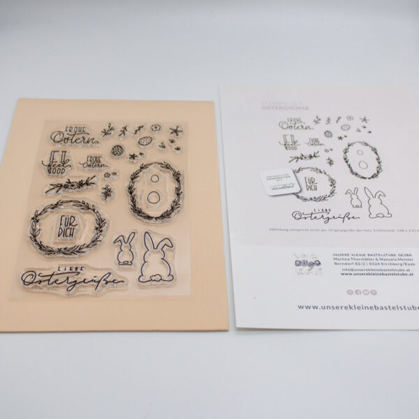 Stempelset Ostergrüße - Kooperation mit Callinigraphy Unsere kleine Bastelstube