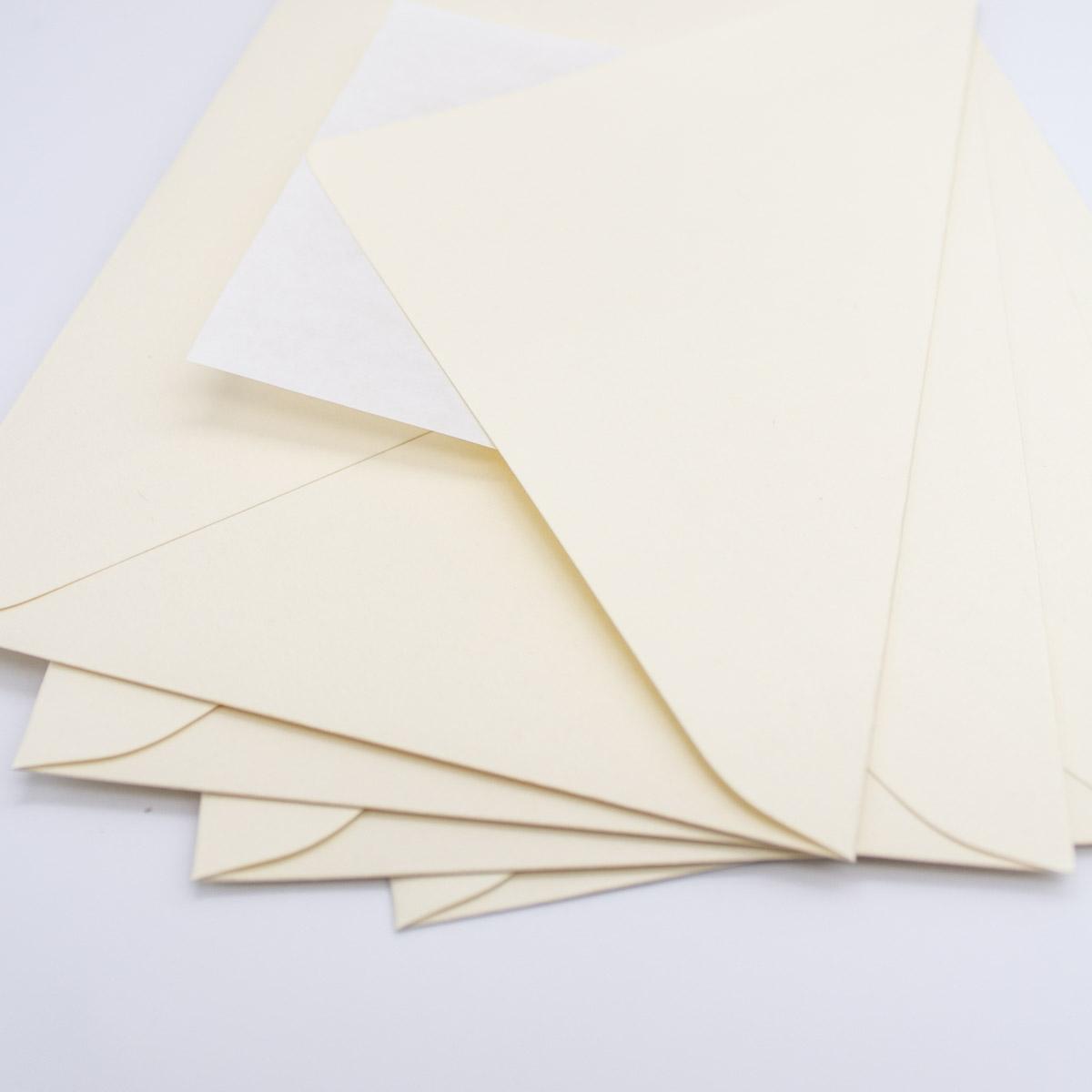 Briefumschlag Creme 5 Stück -B6 Unsere-kleine-Bastelstube