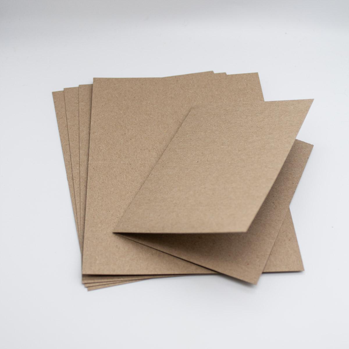 Karten Kraft 5 Stück - A6 Klappkarten-Unsere-kleine-Bastelstube
