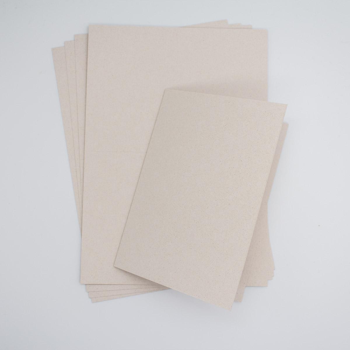 Karten Grape - Naturpapier-Klappkarten- Unsere kleine Bastelstube