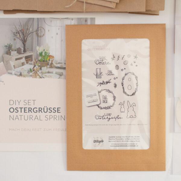 DIY Set Ostergrüße | Natural Spring Unsere kleine Bastelstube