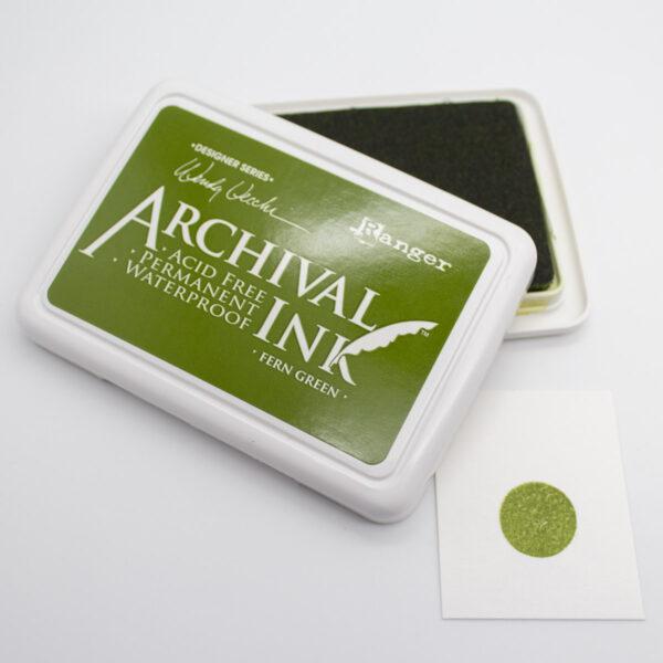 Stempelkissen von Ranger Archival ink Fern Green