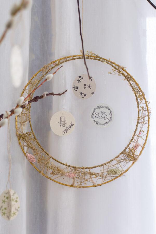 Metallring Gold DIY Basteln mit Trockenblumen