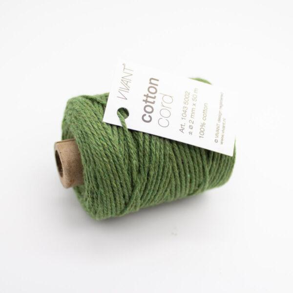Baumwollkordel Vivant Kordel dunkelgrün