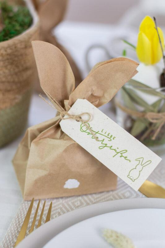 DIY Hasen Geschenktüte für Ostern basteln