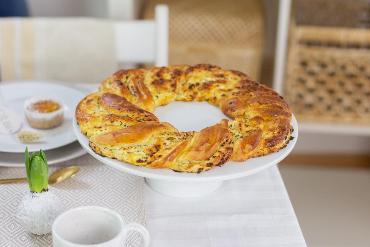 Gefüller Osterkranz - Rezept für Ostern