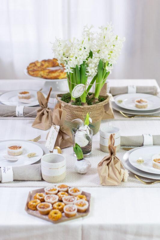 Tischdeko für den Osterbrunch
