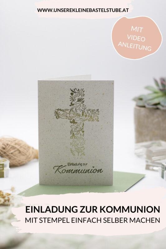 Einladung zur Kommunion selber machen