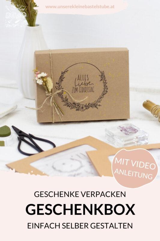 DIY Geschenk verpacken mit Stempel und Geschenkbox-UKBS