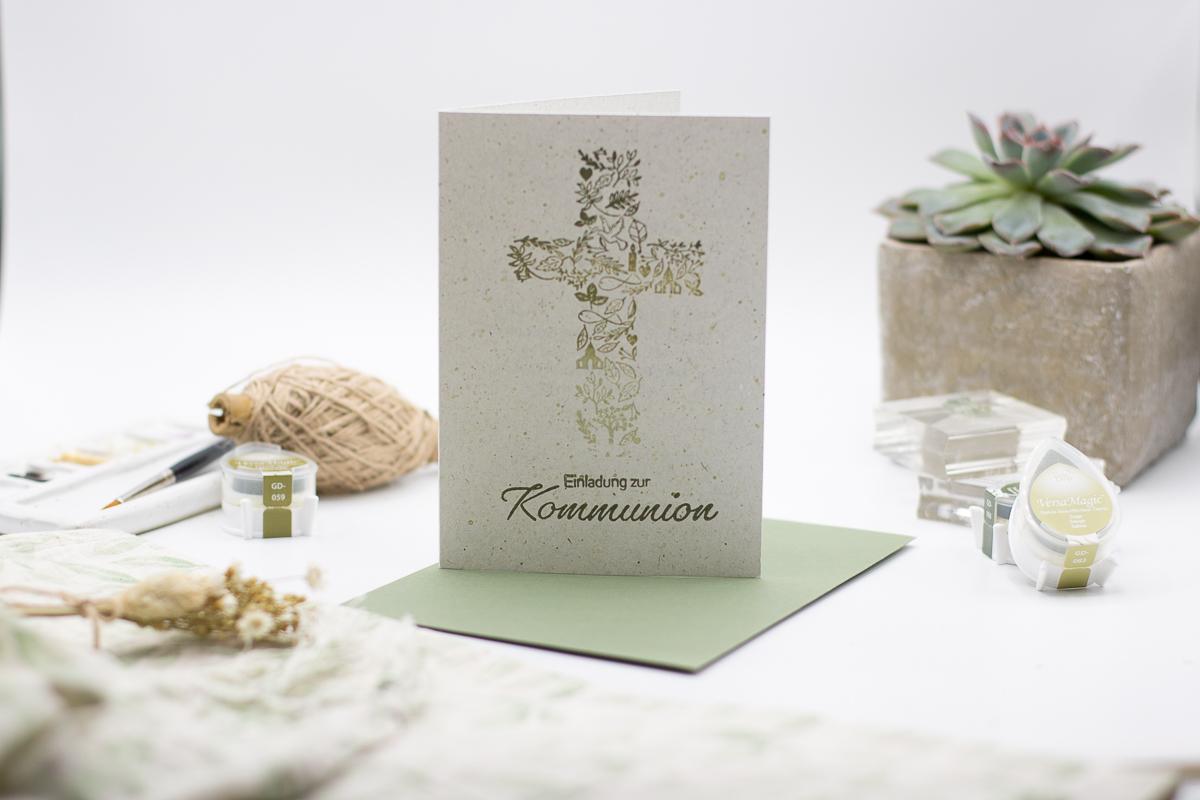 Einladung zur Kommunion - Taufe - Konfirmation - Firmung | Basteln für kirchliche Anlässe | Unsere kleine Bastelstube - DIY Bastelideen für Feste & Anlässe