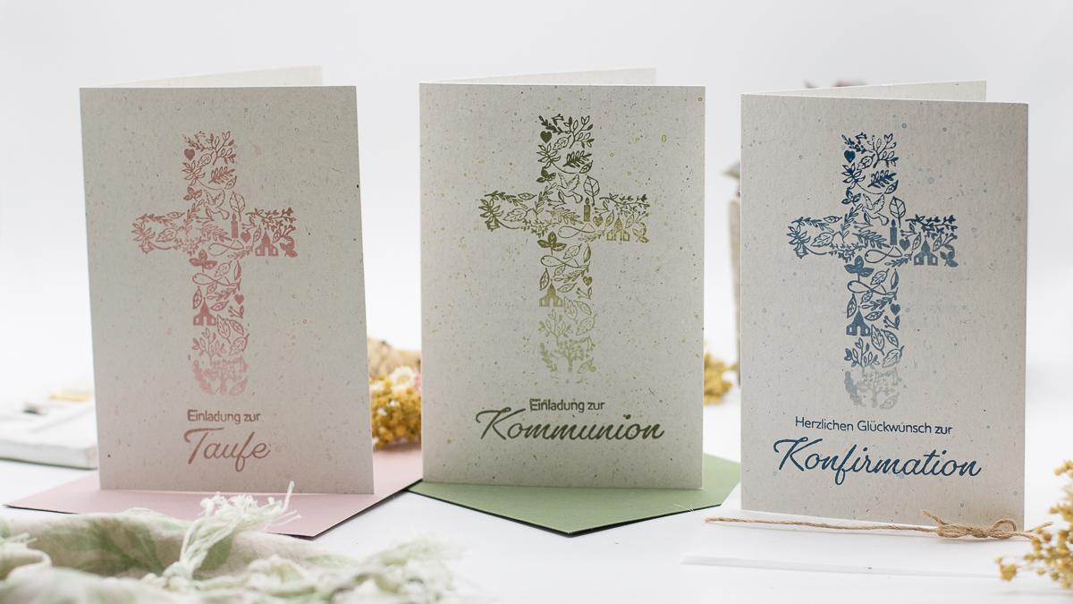 Einladung zur Taufe, Kommunion, Konfirmation oder Firmung