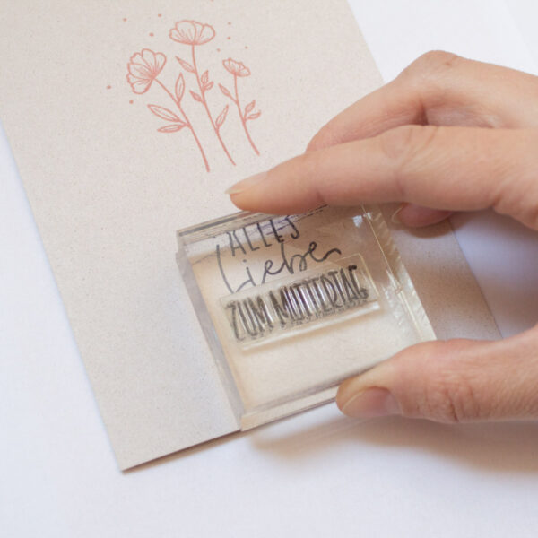 Stempelset Florale Elemente - Kooperation mit Callinigraphy   Unsere kleine Bastelstube - DIY Bastelideen für Feste & Anlässe