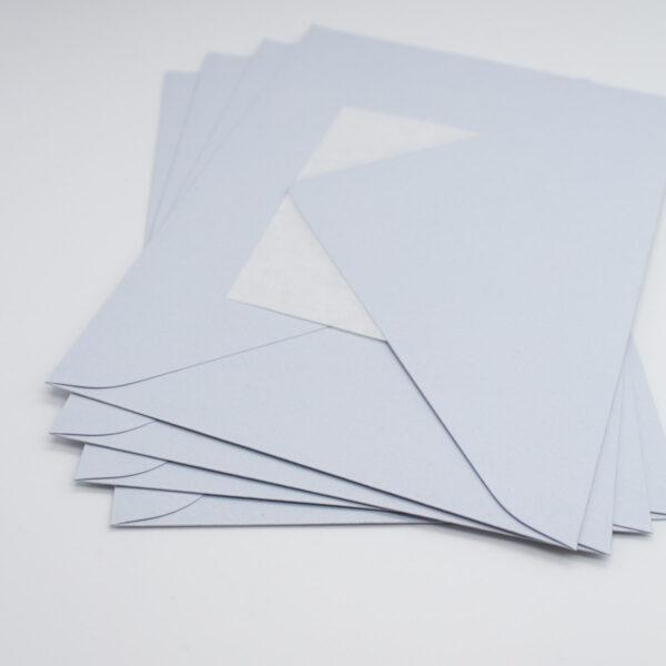 Briefumschlag Eisblau 5 Stück