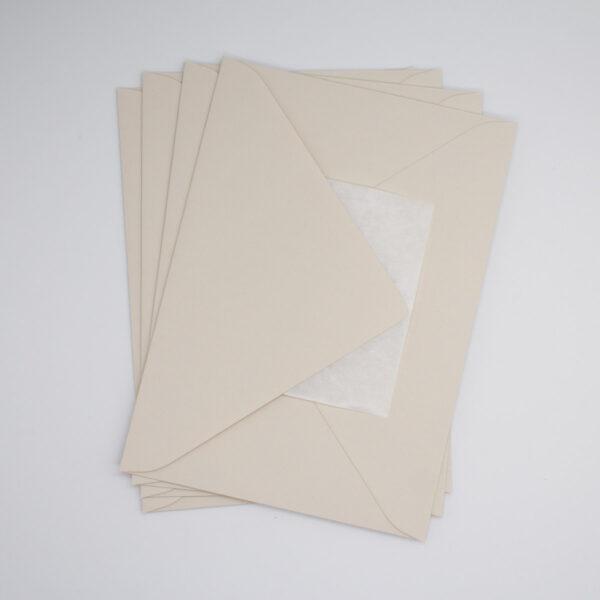 Briefumschlag Sand B6 - 5 Stück