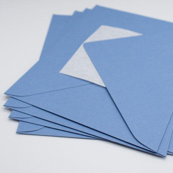 Briefumschlag Stahlblau
