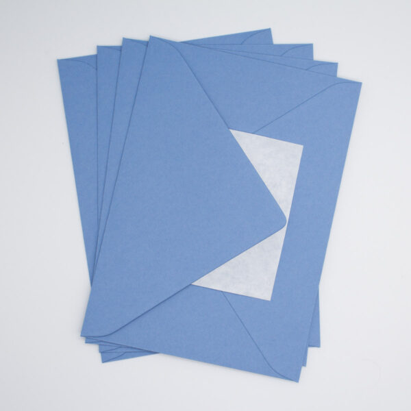 Briefumschlag Stahlblau B6 - 5 Stück