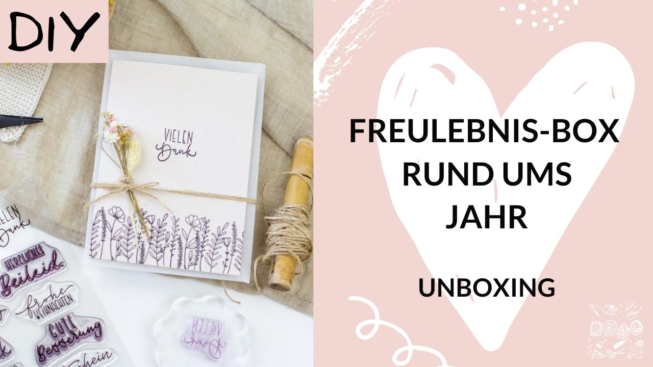 Unboxing-Freulebnis-Box-DIY-Set-Stempeln Rund ums Jahr-UKBS