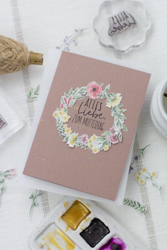 Digitales Designpapier - einfach ausdrucken und basteln- Last Minute Muttertagskarte