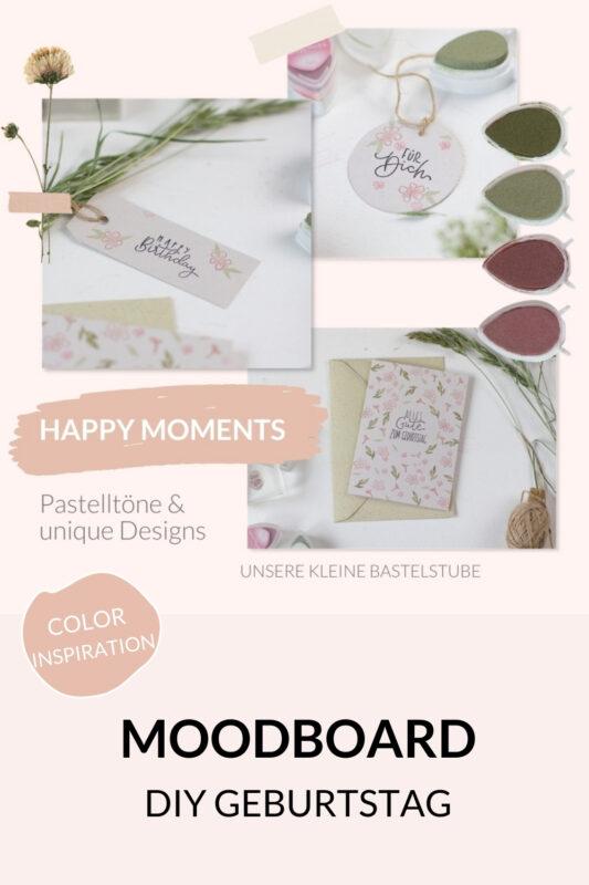 Glückwunschkarte selber machen - Pastellfarben, Stempel ✓einfach & schnell