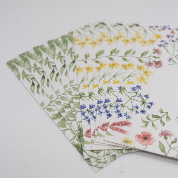 Postkarten Set Wildflowers