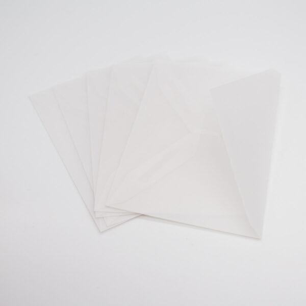 Pergament Briefumschlag 5 Stück (C7)