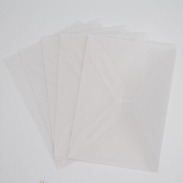 Pergament Briefumschlag 5 Stück