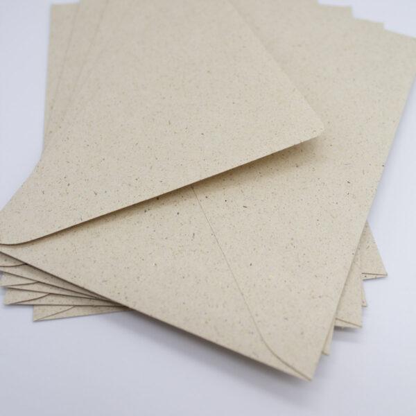 Graspapier Briefumschlag 5 Stück -B6