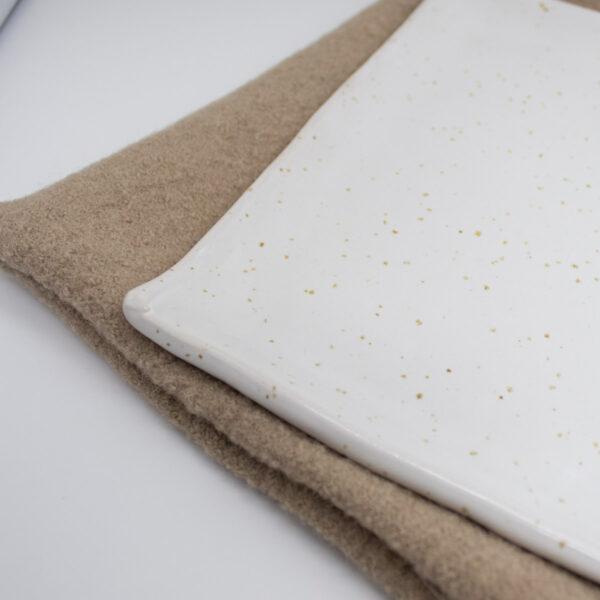 Keramikteller für Schwammtuch Stempelreinigung