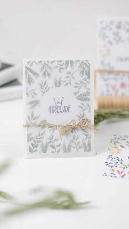 Kleine Karten selber basteln