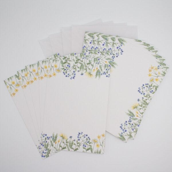 Postkarten Set Blaue Blümchen   Unsere kleine Bastelstube - DIY Bastelideen für Feste & Anlässe