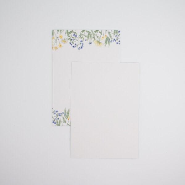 Postkarten Wiesenblumen in Blau 5 Stück (Hochformat)   Unsere kleine Bastelstube - DIY Bastelideen für Feste & Anlässe