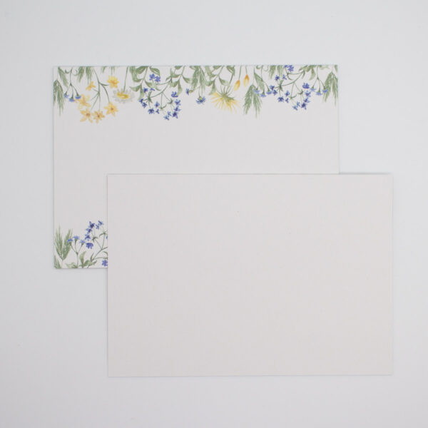 Postkarten Wiesenblumen in Blau 5 Stück1