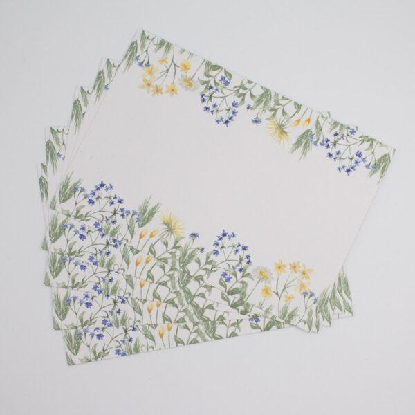 Postkarten Wiesenblumen in Blau 5 Stück2