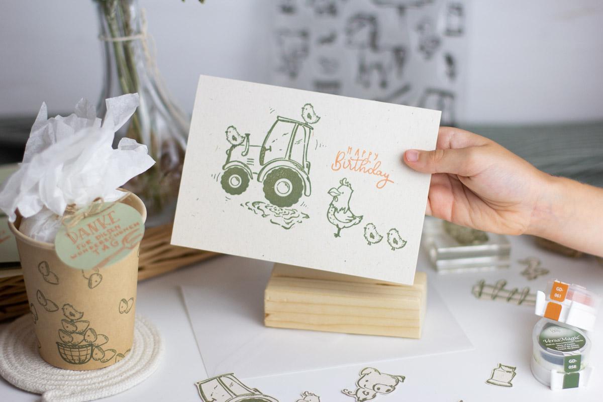 Stempelset Bauernhof   Unsere kleine Bastelstube - DIY Bastelideen für Feste & Anlässe