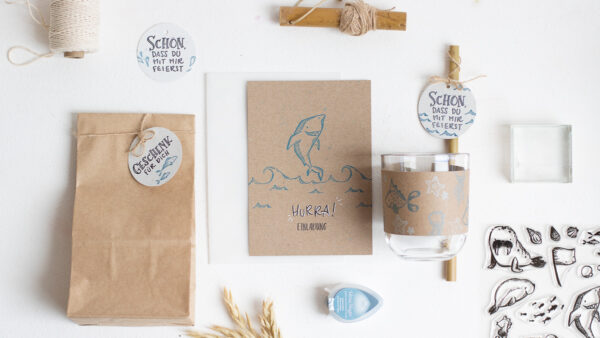 Stempelset Meereswelt   Unsere kleine Bastelstube - DIY Bastelideen für Feste & Anlässe
