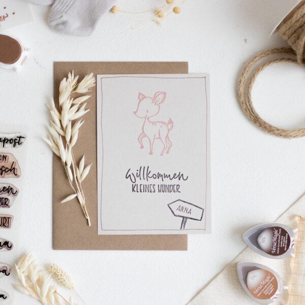 Stempelset Hallo Baby | Unsere kleine Bastelstube - DIY Bastelideen für Feste & Anlässe