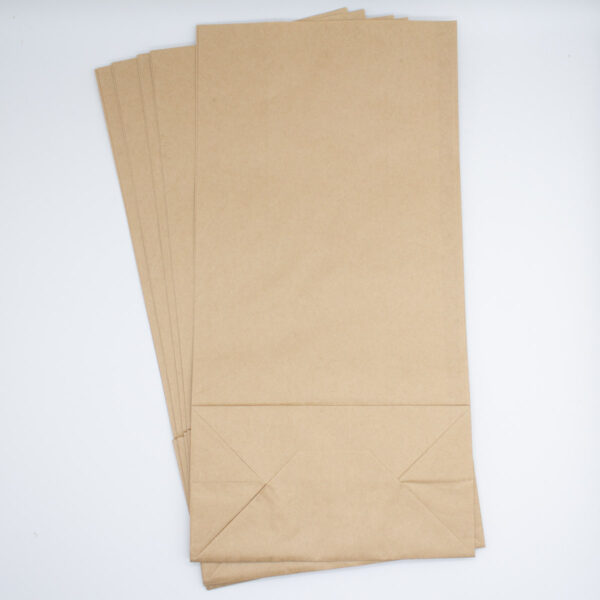 Kraftpapier Blockbodenbeutel (groß) 12 Stück