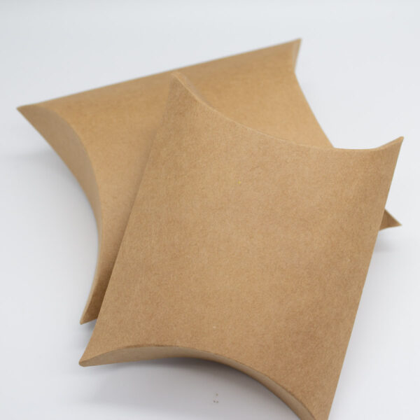 Pillow Box Verpackung in Kraft
